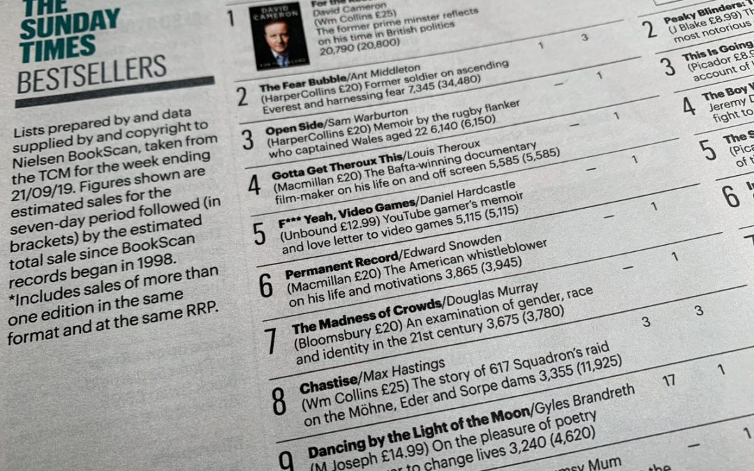 The Madness of Crowds is a Sunday Times bestseller