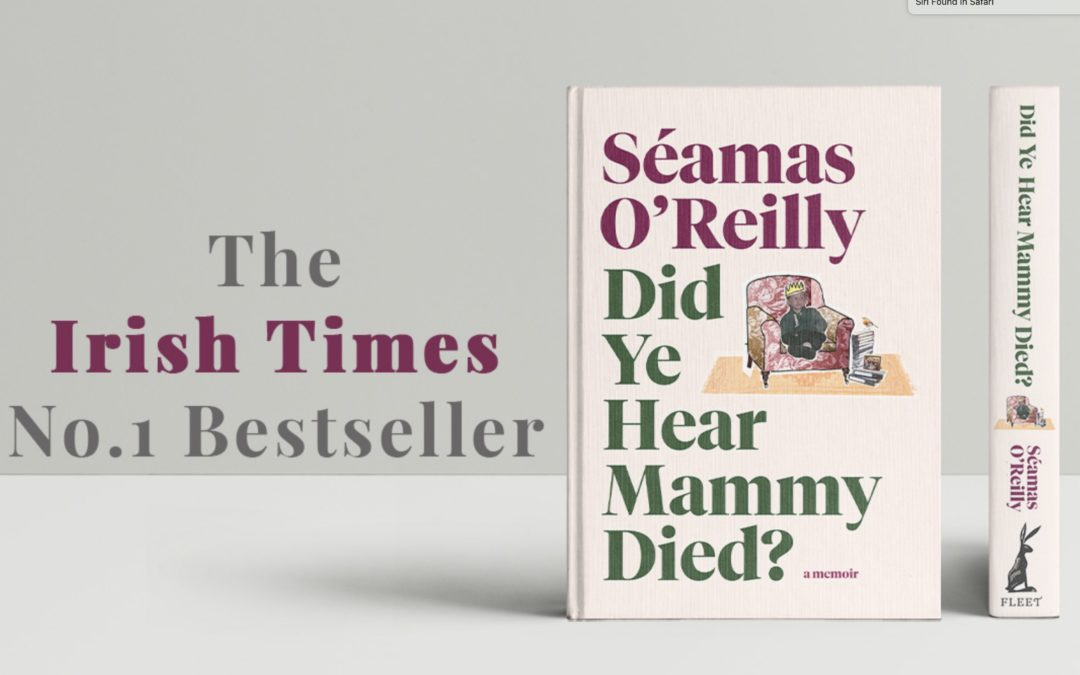 Seamas O'Reilly's memoir debuts at number 1 on the Irish Times bestseller list